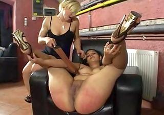 her big round wet gazoo acquires spanked!!!!!!!