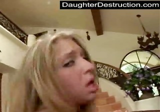 young legal age teenager daughter humiliate