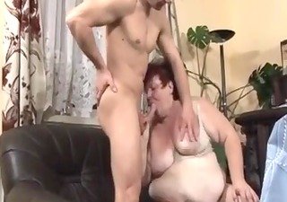 large charming woman maid drilled