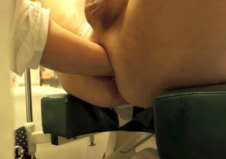 nurse handling, fisting, cum, giant load, nursing