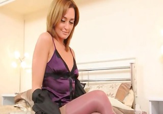 puple lingerie just for my hot rod
