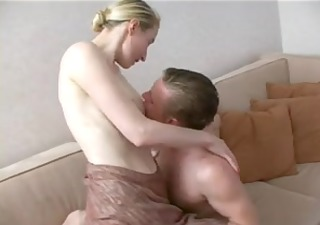 tall aged blond seduces not her son